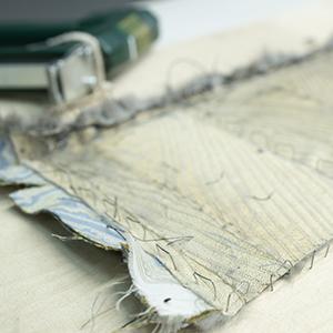 расшивка меха сложным геометрическим рисунком